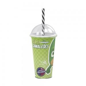 Imagem do produto - Copo Shake de Plástico 500 ml com Tampa e Canudo Pj Masks