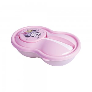 Imagem do produto - Pote de Plástico para Papinha 320 ml com Colher e Tampa Protetora Minnie Baby
