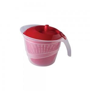 Imagem do produto - Secador de Salada de Plástico 2,8 L Manual com Cesto para Escorrer Vermelho
