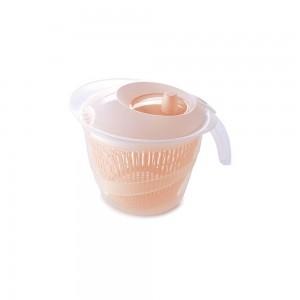 Imagem do produto - Secador de Salada de Plástico 2,8 L Manual com Cesto para Escorrer Rosa