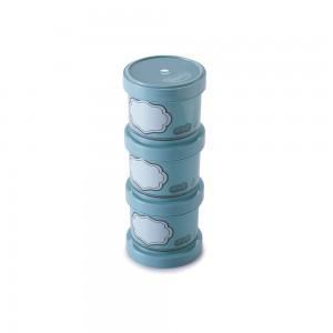 Imagem do produto - Conjunto Organizador de Plástico Empilhável com Tampa Rosca 3 Unidades Edu