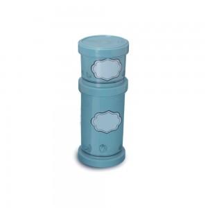 Imagem do produto - Conjunto Organizador de Plástico Empilhável com Tampa Rosca 2 Unidades Edu Guedes