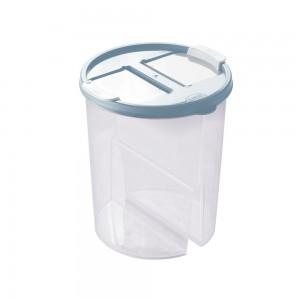 Imagem do produto - Guarda Tudo de Plástico Redondo 2 Divisórias 1,7 L Dueto Azul