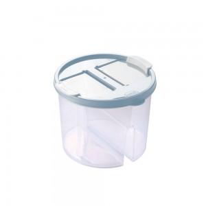 Imagem do produto - Guarda Tudo de Plástico Redondo 2 Divisórias 1 L Dueto Azul