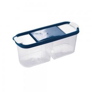 Imagem do produto - Guarda Tudo de Plástico Retangular 2 Divisórias 1,1 L Dueto