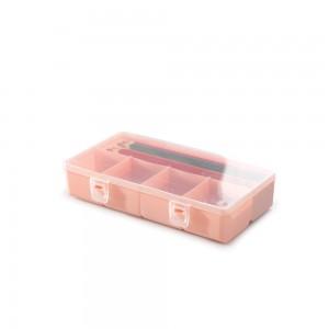 Imagem do produto - Caixa de Plástico Organizadora com 5 Divisórias Internas, Trava e Tampa Fixa