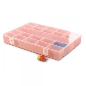 Imagem do produto - Caixa de Plástico Organizadora com 21 Divisórias Internas, Trava e Tampa Fixa