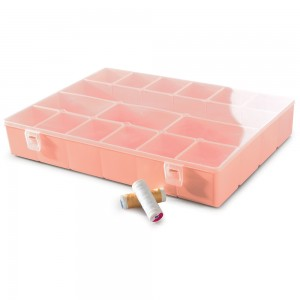Imagem do produto - Caixa de Plástico Organizadora com 16 Divisórias Internas, Trava e Tampa Fixa