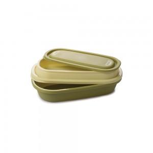 Imagem do produto - Marmita 2 em 1 de Plástico com Tampa Encaixável e Sobretampa