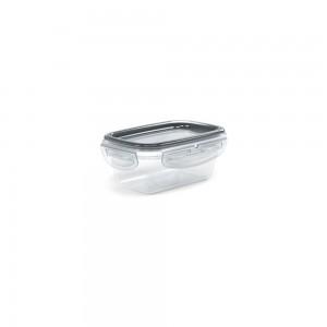 Imagem do produto - Pote de Plástico Retangular com Tampa 190 ml Trava Mais