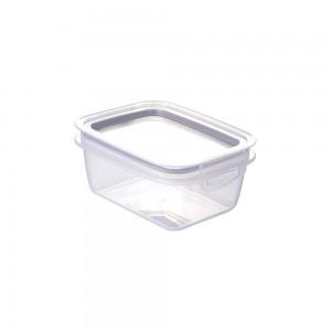 Imagem do produto - Pote de Plástico Retangular com Tampa 400 ml Trava Mais