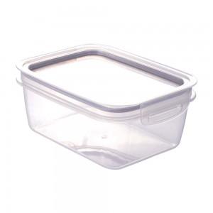 Imagem do produto - Pote de Plástico Retangular 1,3 L Hermético Trava Mais Incolor  Cinza
