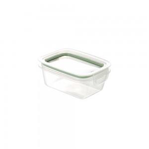 Imagem do produto - Pote de Plástico Retangular 360 ml Hermético Trava Mais Verde