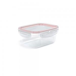 Imagem do produto - Pote de Plástico Retangular com Tampa 630 ml Trava Mais