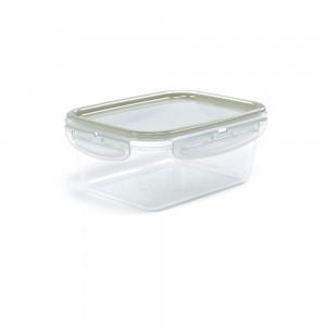 Imagem do produto - Pote de Plástico Retangular com Tampa 910 ml Trava Mais
