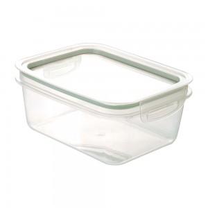 Imagem do produto - Pote de Plástico Retangular 1,3 L Hermético Trava Mais Verde