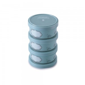 Imagem do produto - Conjunto Organizador de Plástico Empilhável com Tampa Rosca 3 Unidades Edu Guedes