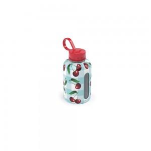 Imagem do produto - Garrafa de Plástico 280 ml com Tampa Rosca e Pegador Fixo Cilíndrica Cute