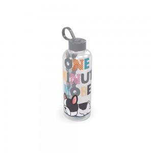 Imagem do produto - Garrafa de Plástico 480 ml com Tampa Rosca e Pegador Fixo Cilíndrica Cute