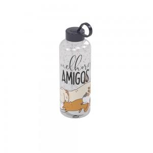 Imagem do produto - Garrafa de Plástico 480 ml com Tampa Rosca e Pegador Fixo Cilíndrica Cute Pets