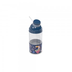 Imagem do produto - Garrafa de Plástico 360 ml com Tampa Rosca e Compartimento Tropical