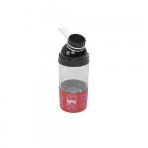 Imagem do produto - Garrafa de Plástico 360 ml com Tampa Rosca e Compartimento Fun