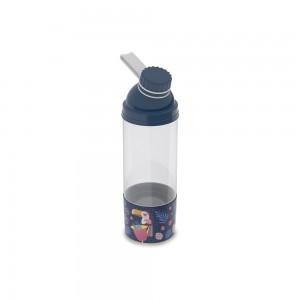 Imagem do produto - Garrafa de Plástico 580 ml com Tampa Rosca e Compartimento Tropical