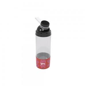Imagem do produto - Garrafa de Plástico 580 ml com Tampa Rosca e Compartimento Fun