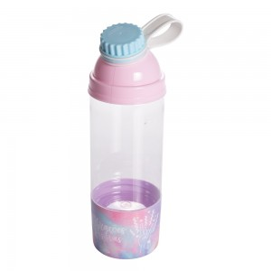 Imagem do produto - Garrafa de Plástico 580 ml com Tampa Rosca e Compartimento Good Vibes