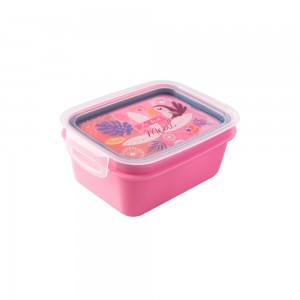 Imagem do produto - Marmita de Plástico 850 ml com Divisória Removível e Travas Laterais