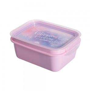 Imagem do produto - Marmita de Plástico 850 ml com Divisória Removível e Travas Laterais Good Vibes