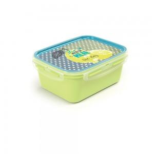 Imagem do produto - Marmita de Plástico 1,2 L com Divisória Removível e Travas Laterais Tropical