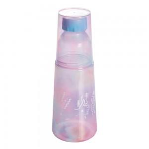 Imagem do produto - Garrafa Moringa de Plástico 960 ml com Copo Good Vibes