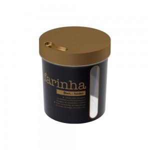 Imagem do produto - Porta Mantimento Redondo Rosca Farinha 2,5 L Glamour