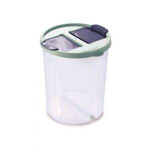 Imagem do produto - Guarda Tudo de Plástico Redondo 2 Divisórias 1,7 L Dueto Verde