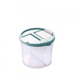 Imagem do produto - Guarda Tudo de Plástico Redondo 2 Divisórias 1 L Dueto