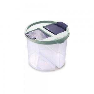 Imagem do produto - Guarda Tudo de Plástico Redondo 2 Divisórias 1 L Dueto Verde