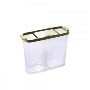 Imagem do produto - Guarda Tudo de Plástico Retangular 2 Divisórias 2,4 L Dueto