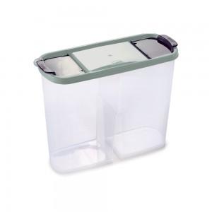 Imagem do produto - Guarda Tudo de Plástico Retangular 2 Divisórias 2,4 L Dueto Verde