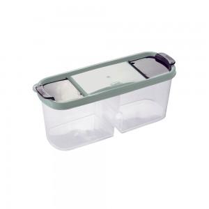 Imagem do produto - Guarda Tudo de Plástico Retangular 2 Divisórias 1,1 L Dueto Verde