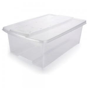 Imagem do produto - Caixa de Plástico Organizadora 9,8 L com Tampa Empilhável