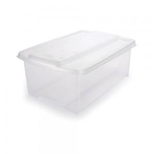 Imagem do produto - Caixa de Plástico Organizadora 6 L com Tampa Empilhável