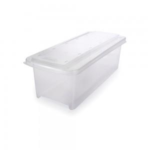 Imagem do produto - Caixa de Plástico Organizadora 3,8 L com Tampa Empilhável