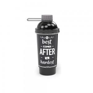 Imagem do produto - Shakeira de Plástico 580 ml com Tampa Rosca, Misturador e Compartimento De Bem com a Vida