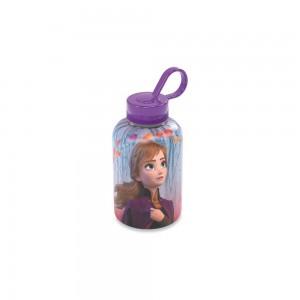 Imagem do produto - Garrafa de Plástico 280 ml com Tampa Rosca e Pegador Fixo Cilíndrica Frozen Anna