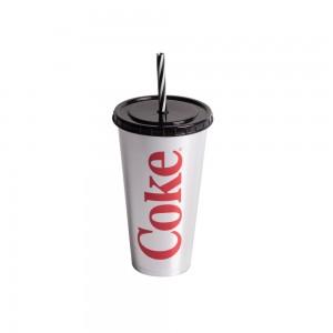 Imagem do produto - Copo Refrigerante de Plástico 700 ml com Tampa e Canudo Coca Cola