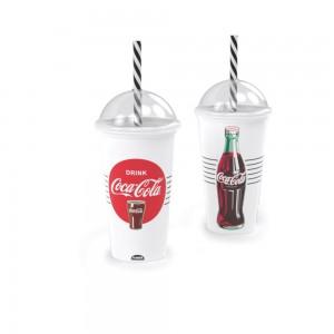 Imagem do produto - Copo Shake de Plástico 500 ml com Tampa e Canudo Coca Cola