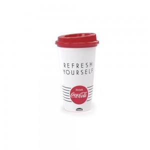 Imagem do produto - Copo de Plástico 500 ml com Tampa Café Coca Cola