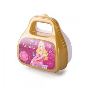Imagem do produto - Pote de Plástico com Tampa Fixa em Formato de Bolsinha com Alça Princesas Colecionáveis