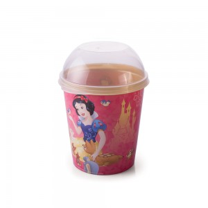 Imagem do produto - Pote de Plástico 600 ml com Tampa Fixa Princesas Colecionáveis